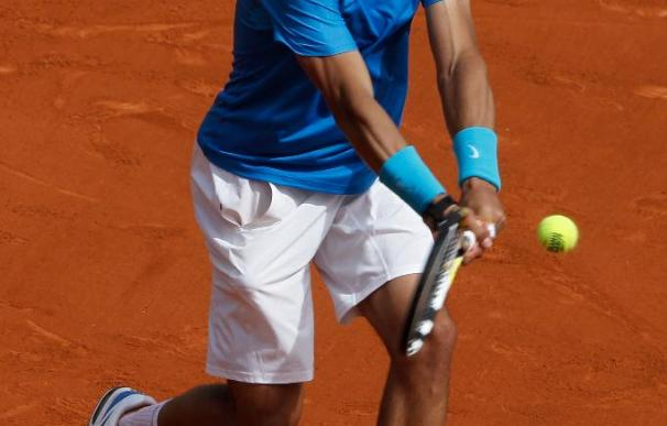 Rafa Nadal, en su debut en Roland Garros