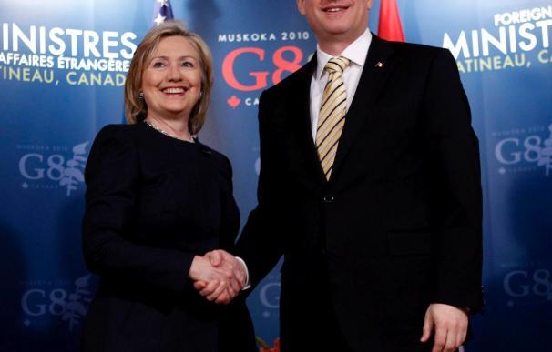 Los ministros del G8 inician una reunión con la mente en las sanciones contra Irán