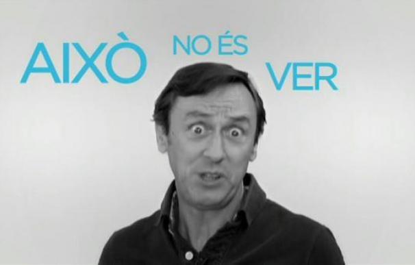 Rafael Hernando, en un fotograma del vídeo de los líderes del PP hablando en catalán