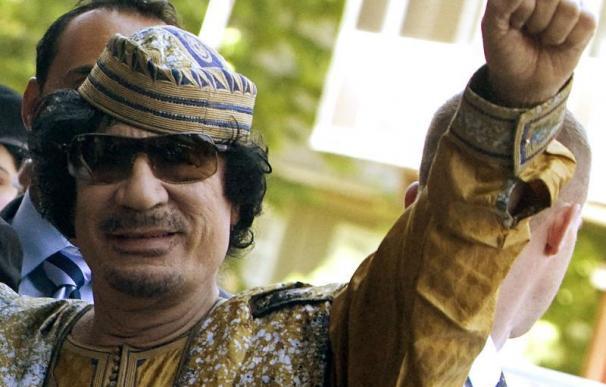 Muamar Gadafi, líder libio