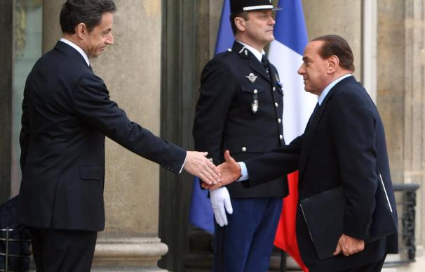 President Nicolas Sarkozy Hosts A Summit Over The Libyan Crisis At The Elysee Palace
