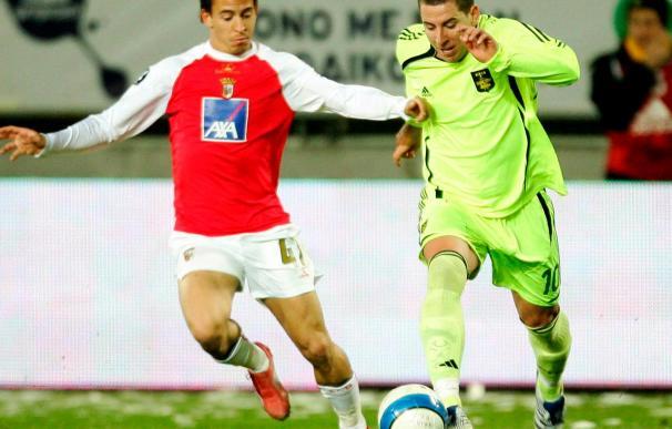 El español Sergio Koke mete al Aris Salónica en la final de Copa