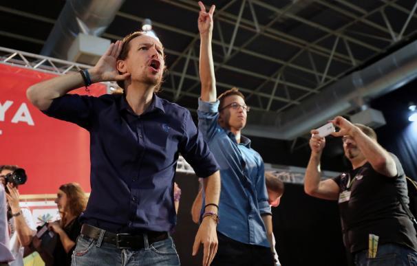 Leader of Podemos political party Pablo Iglesias (