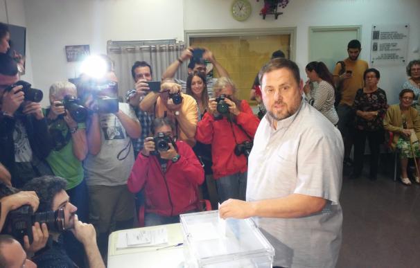 """27S.- Junqueras cree que el resultado de las elecciones será """"inequívoco"""""""