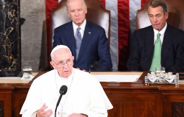 Histórica intervención del papa Francisco ante el Congreso de EEUU (Foto: JIM WATSON / Getty Images)
