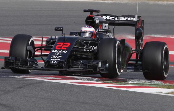Jenson Button, en su nuevo McLaren / AFP