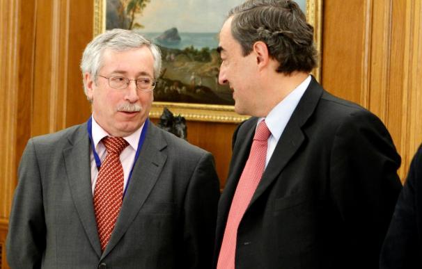 Rosell, Toxo y Méndez, reunidos para avanzar en el pacto de los convenios