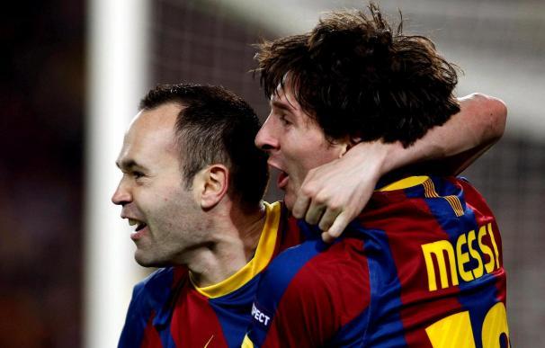 Iniesta, Messi y Raúl, en once ideal Liga Campeones