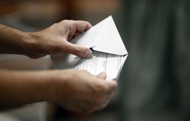 Una papeleta electoral