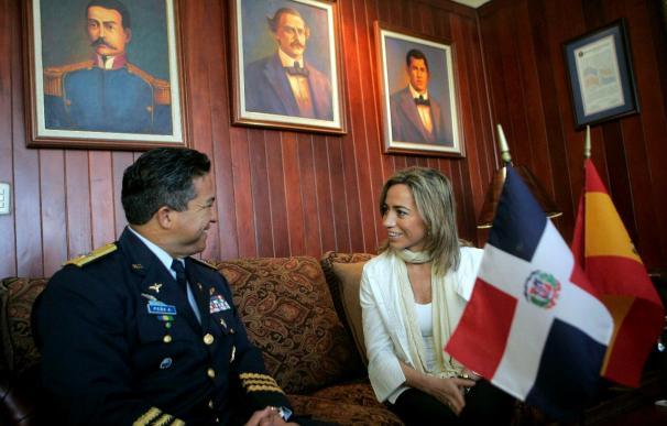 Chacón llega a Haití para visitar a las tropas y reunirse con el presidente