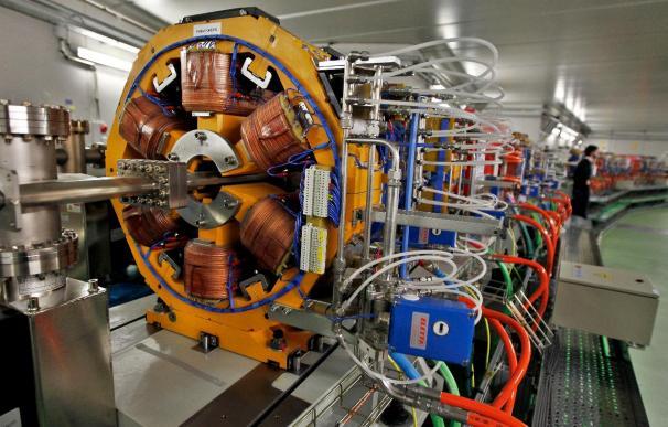 Vista del cuerpo central del sincrotrón Alba, ubicado en Cerdanyola del Vallés (Barcelona), uno de los aceleradores de partículas con finalidades científicas más modernos del mundo.