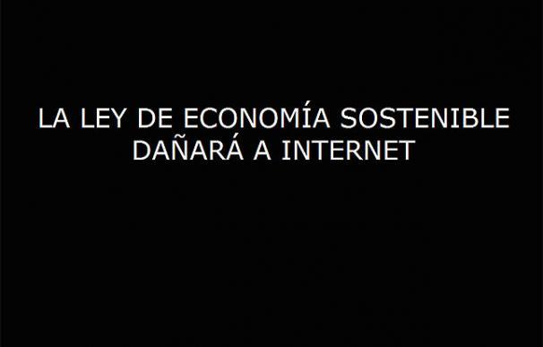 La web de Red SOStenible, contra la Ley de Economía Sostenible.