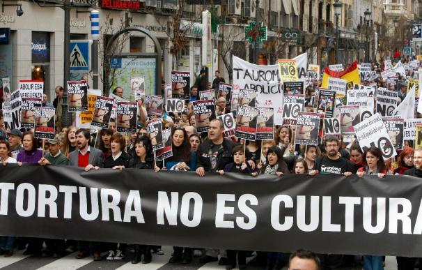 Manifestación de protesta en Madrid por la declaración de los toros como BIC