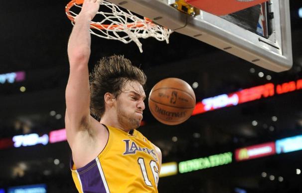 101-109. Gasol dirige el triunfo de los Lakers sobre los Rockets