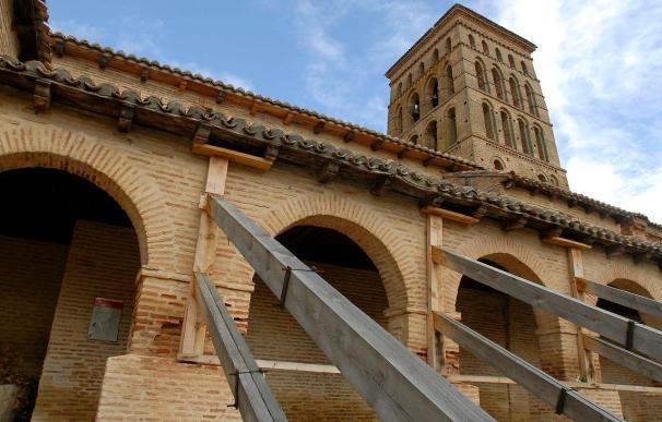Una joya del románico mudéjar español, apuntalada y en peligro de derrumbe