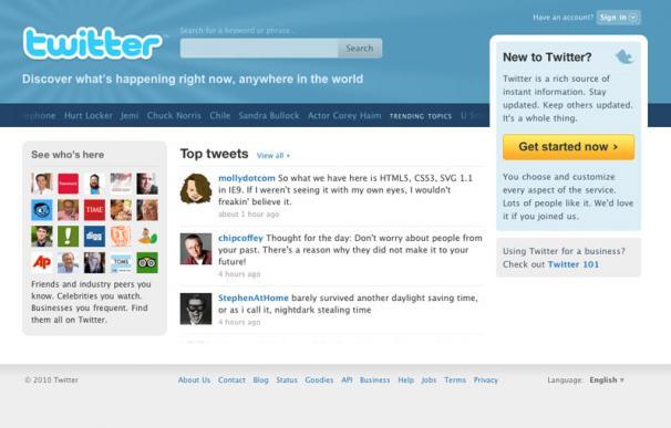 Rediseño de Twitter
