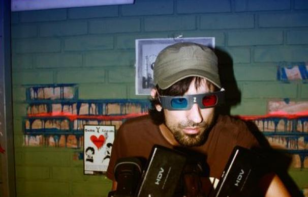 Pol Milander filmando en 3D.