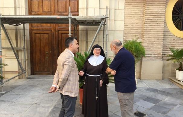 La Comunidad realiza una intervención de emergencia en la fachada del Monasterio de Santa Clara la Real de Murcia