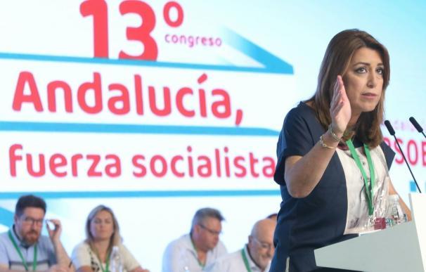 """Susana Díaz defiende la bandera de la igualdad y que los socialistas nunca han sido """"nacionalistas"""""""