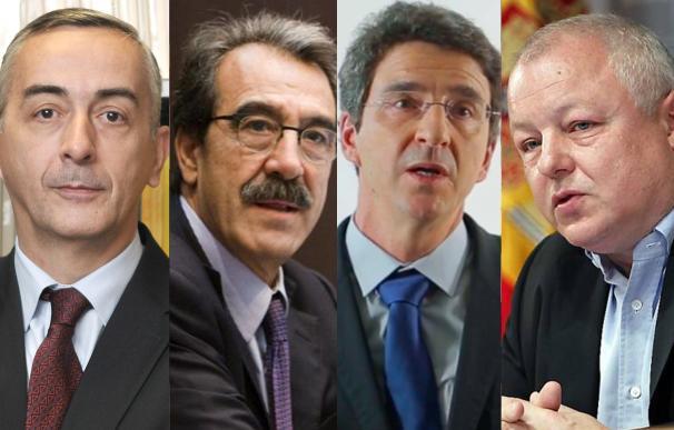 Carlos Ocaña (Funcas), Emilio Ontiveros (AFI), Jorge Sicilia (BBVA Research) y Ángel de la Fuente (FEDEA).