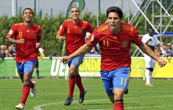 3-1. España firma una clara victoria y pasa a la final del Europeo sub'19
