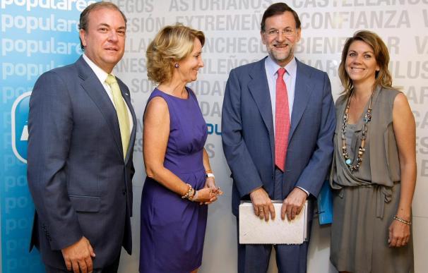 Monago, Aguirre y Cospedal trasladan a Rajoy su preocupación por el AVE