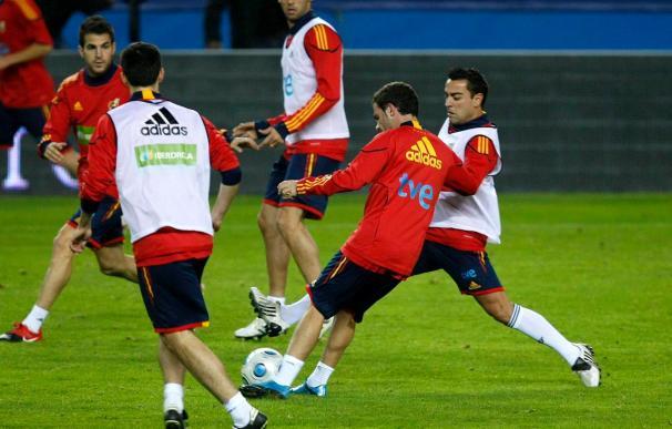España inicia su concentración en La Ciudad del Fútbol