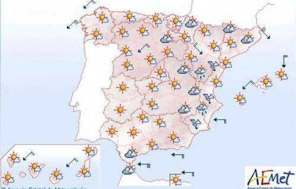 Vientos fuertes en Galicia, Girona, Menorca, Almería y Estrecho