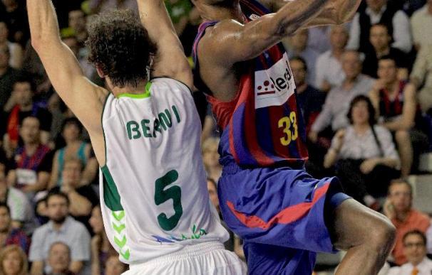 96-82. El Barça logra el primer punto de semifinales ante Unicaja tras una gran segunda mitad