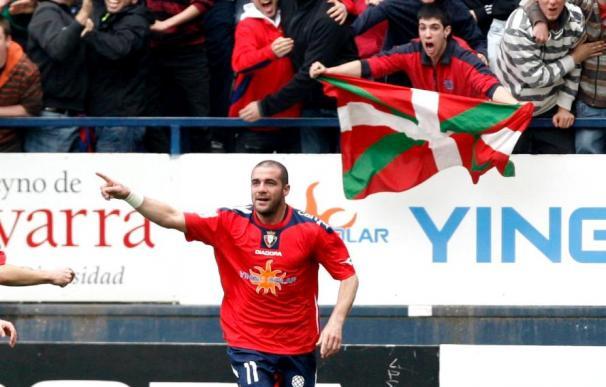 """Pandiani se muestra """"contentísimo"""" con su renovación con el Osasuna para la próxima campaña"""