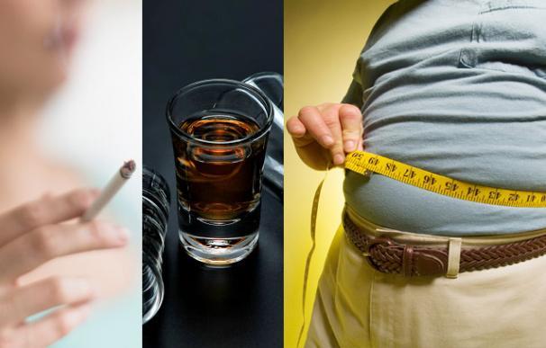 Obesidad, tabaco y alcohol