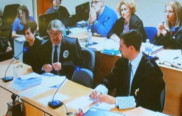 Rosario Porto y Alfonso Basterra durante el inicio del juicio por el crimen de Asunta