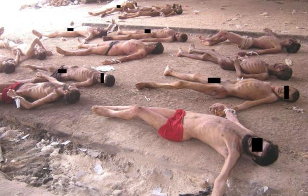 Una de las miles de fotografías en las que Cesar documentó el horror sirio