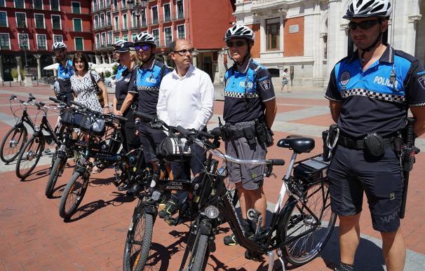 Valladolid estrena Policía Municipal en bicicleta con un programa piloto durante agosto y septiembre