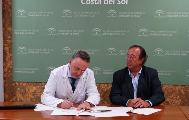 Hospital Costa del Sol y Asociación MarbellAyuda firman un acuerdo para hacer más amena la estancia de niños
