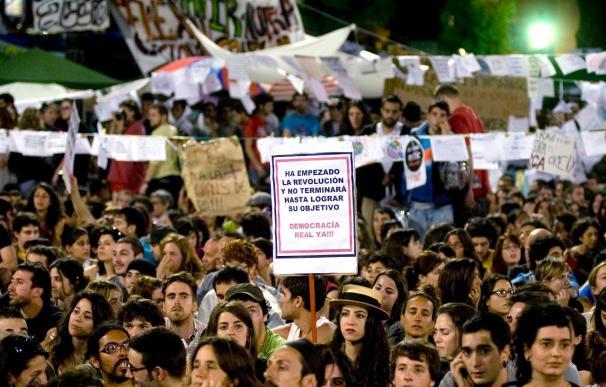 Baja el número de acampados en Barcelona, tras la euforia del fin de semana