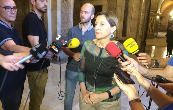 Forcadell dice que el TC juzga el uso que pueda tener la lectura única en el Parlament