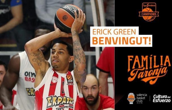 El Valencia Basket recluta a Erik Green procedente del Olympiacos