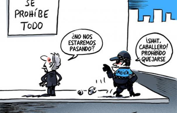 Viñeta de Ferrán Martín en relación la Ley de Seguridad Ciudadana