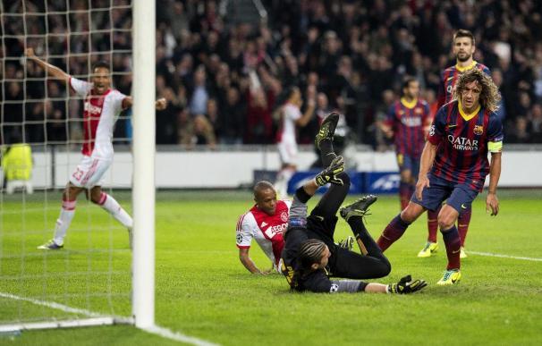 2-1. El Barça muestra su peor versión y cae ante un gran Ajax