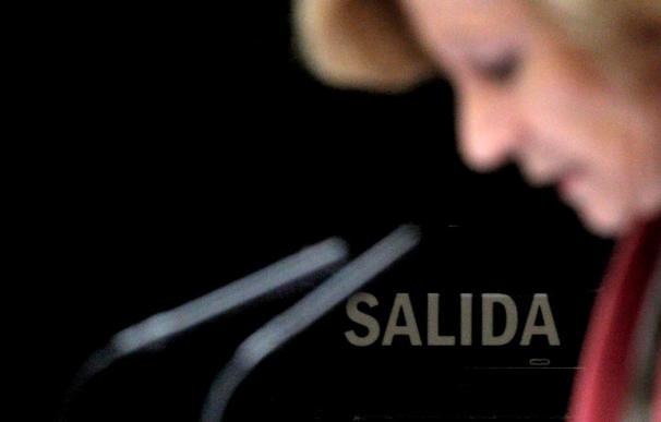"""Salgado defiende como """"imprescindibles y urgentes"""" las medidas de recorte"""