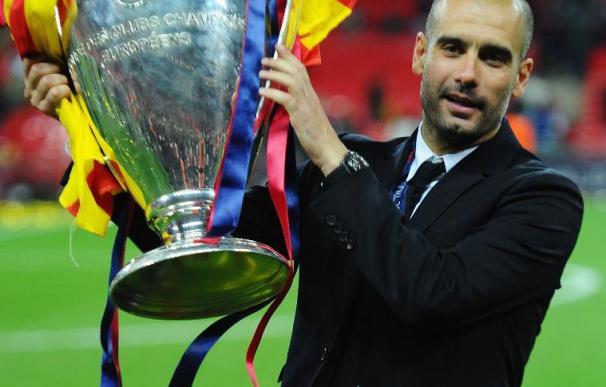 Guardiola levanta la Champions tras el Barcelona - Manchester United