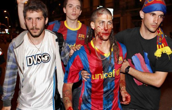 Casi 90 heridos en los incidentes de Canaletas, que esquivaron a los acampados