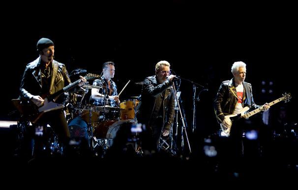 Irish band U2 perform at the Ziggo Dome in Amsterd