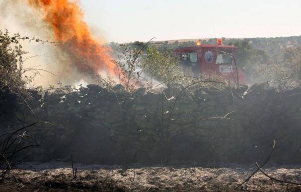 Extinguido un nuevo incendio intencionado en Serradilla del Llano, en Salamanca