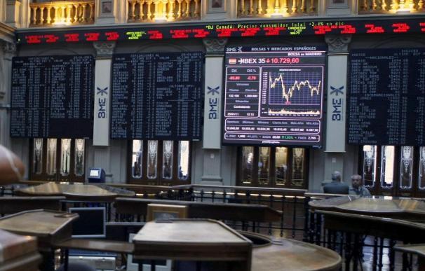 La Bolsa española reduce sus ganancias a mediodía, pero sube el 0,13 por ciento