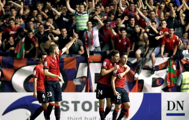 1-0. Osasuna festeja la permanencia por undécimo año consecutivo
