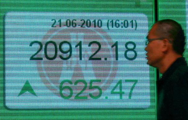 El índice Hang Seng baja 31,80 puntos, 0,15% en apertura, hasta 20.603,18