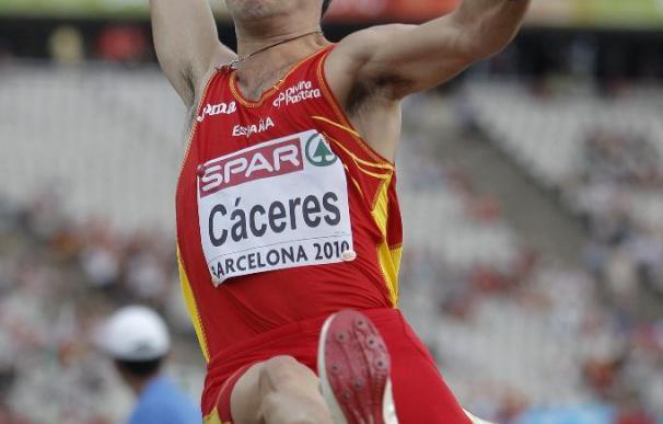 Cáceres logra en longitud la mejor marca europea del año con un salto de 8,27