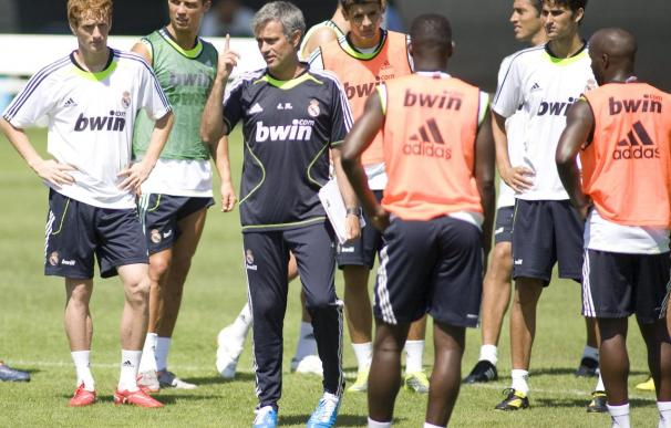 Di María se incorpora a la disciplina de Mourinho